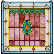 Design Toscano Craftsman Tiffany Style Stained Glass Window
