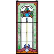 Design Toscano Bouquet of Posies Tiffany Style Stained Glass Window
