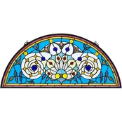 Design Toscano Callidora Demi Lune Tiffany Style Stained Glass Window
