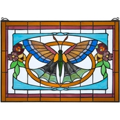 Design Toscano Butterfly Ballet Tiffany Style Stained Glass Window