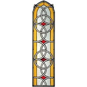 Design Toscano Celtic Knotwork Tiffany Style Stained Glass Window