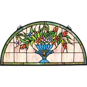Design Toscano Titchfield Abbey Demi Lune Stained Glass Window