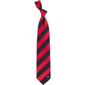 Eagles Wings NCAA Georgia Bulldogs Regiment Silk Tie