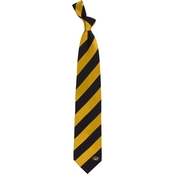 Eagles Wings NCAA Missouri Tigers Regiment Silk Tie