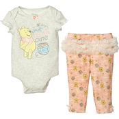 Disney Pooh Infant Girls Tulle Creeper Pants