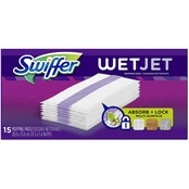 Swiffer WetJet Hardwood Floor Cleaner, Spray Mop Pad Refill, Multi Surface, 15 Pk.