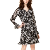 INC International Concepts Petite Floral Wrap Dress