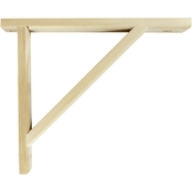 InPlace Potomac Unfinished Shelf Bracket