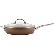 Ayesha Curry Home Collection Porcelain Nonstick Covered Deep Skillet 12-Inch
