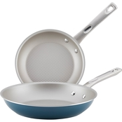 Ayesha Curry Home Collection Porcelain Enamel Nonstick Skillet Twin Pack