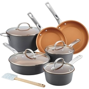Ayesha Curry Home Collection Hard Anodized Aluminum Cookware Set, 11 Pc.