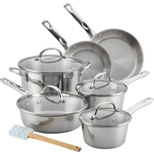 Ayesha Curry Home Collection Stainless Steel Cookware Set, 11 Pc.