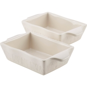 Ayesha Curry Home Collection Stoneware Au Gratin Set, 12 Oz., 2 Pc.
