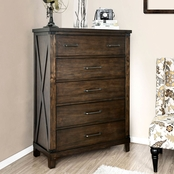 Furniture of America Bianca 5 Drawer Chest