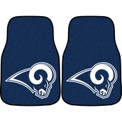Fan Mats NFL Los Angeles Rams Carpeted Car Mat