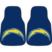 Fan Mats NFL Los Angeles Chargers Carpeted Car Mat