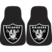 Fan Mats NFL Oakland Raiders Carpeted Car Mat