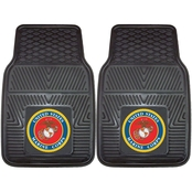 Fan Mats Military Service Branch Vinyl 17 x 27 in. 2 pc. Car Mat Set