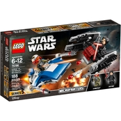 LEGO Star Wars A Wing vs. TIE Silencer Microfighters