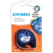DYMO LetraTag Plastic Tape Refill, Pearl White