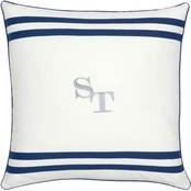 Southern Tide Sullivan Stripe Logo Decorative Pillow