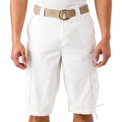 Chalc Messenger Belted Dobby Shorts