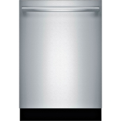 Bosch 800 Series 24 In. Stainless Steel Built In Bar Handle Dishwasher