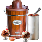 Nostalgia Electrics Vintage Collection 6 Qt. Wood Bucket Electric Ice Cream Maker