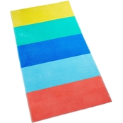 Martha Stewart Collection Colorblocked Cotton Beach Towel