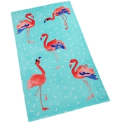 Martha Stewart Collection Flamingo Sprinkle Graphic Print Cotton Beach Towel