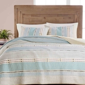 Martha Stewart Collection Cotton Earth Tone Stripe Standard Sham