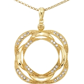 Simone I. Smith 18K Yellow Gold Over Sterling Silver Crystal Destiny Pendant 18