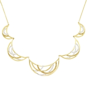 Simone I. Smith 18K Yellow Gold Over Sterling Silver Eternity Necklace 18 in.