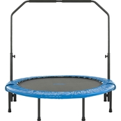 UpperBounce 48 In. Mini Foldable Rebounder Fitness Trampoline with Handrail
