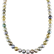 Michiko Multi Color South Sea and Tahitian Pearl Strand Necklace