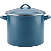 Ayesha Curry Home Collection Enamel on Steel Stockpot, 12 Qt.