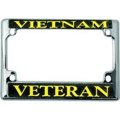 Mitchell Proffitt Vietnam Veteran Chrome Motorcycle License Plate Frame