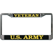 Mitchell Proffitt Army Veteran Chrome License Plate Frame