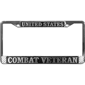 Mitchell Proffitt United States Combat Veteran Chrome License Plate Frame