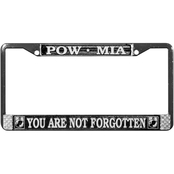 Mitchell Proffitt POW/MIA You Are Not Forgotten Chrome License Plate Frame