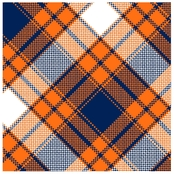 Springs Creative Annie Plaid Orange Fleece Fabric by the Yard