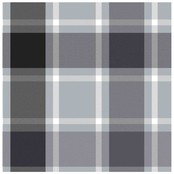 Springs Creative Bruno Plaid Gray Fleece Fabric by the Yard