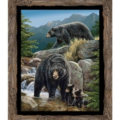 Wild Wings Cool Waters Bear Wall Hanging Fabric by the Yard