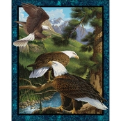 Wild Wings Flying High Panel Fabric by the Yard