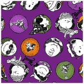 Peanuts Trick Or Treat Fabric by the Yard