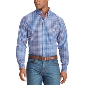Chaps Easy Care Offset Tattersall Button Down Shirt