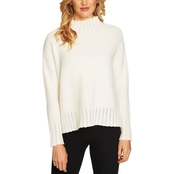 CeCe Turtleneck Seed Stitch Pullover Sweater