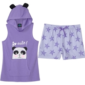 Jelli Fish Kids Girls 2 pc. Hooded So Cute Panda Pajama Set
