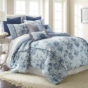 Pacific Coast Floral Farmhouse 8 pc. Embellished Comforter Set