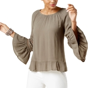 INC International Concepts Bell Sleeve Peasant Top